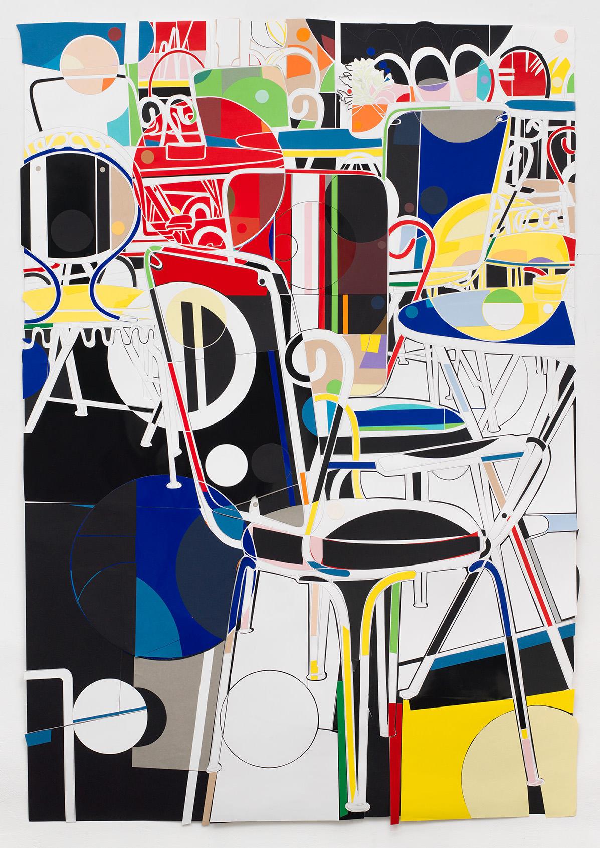 """MARION EICHMANN """"EISDIELE"""" 2017 215 X 150 GRAFITSTIFT, PAPIER"""