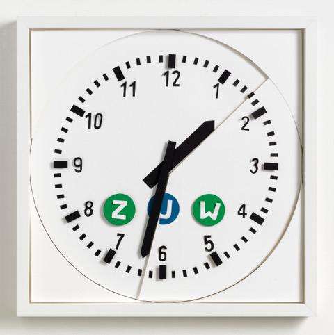 UHR: Marion Eichmann UHR 2018 42,5 x42,5x4, 2018 Papier